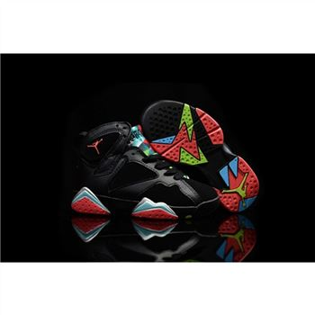 Kids Nike Air Jordan 7 Retro Black Blue Red