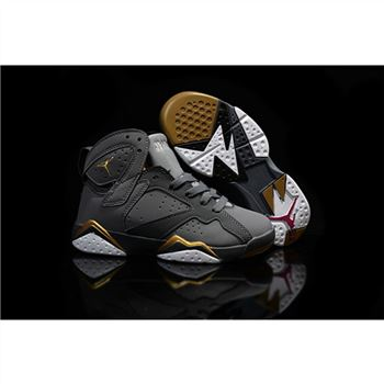 Kids Nike Air Jordan 7 Retro Grey Gold