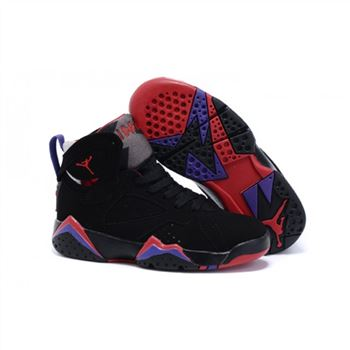 Kids Nike Air Jordan Retro 7 Black Purple Red