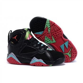 Kids Nike Air Jordan Retro 7 Black Red Green Blue