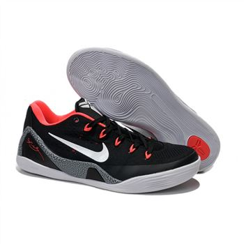 Mens Nike Kobe 9 EM Premium Black Red Grey