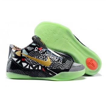 Mens Nike Kobe 9 Low Flyknit Black MultiColor