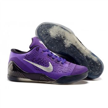 Mens Nike Kobe 9 Low Flyknit Purple Black
