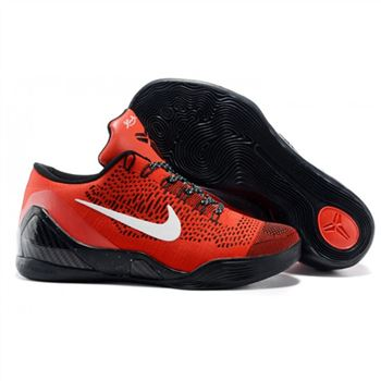Mens Nike Kobe 9 Low Flyknit Red Black