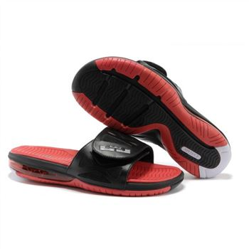 Mens Air LeBron Slide Black Red White