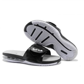 Mens Air LeBron Slide Black White Light Grey