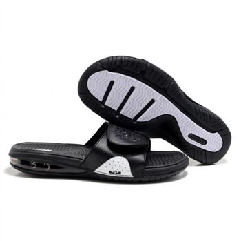 Mens Air LeBron Slide Black White