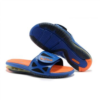 Mens Air LeBron Slide Blue Orange Black