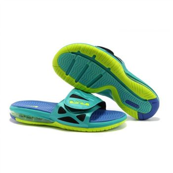 Mens Air LeBron Slide Green Blue