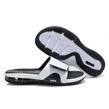 Mens Air LeBron Slide White Black