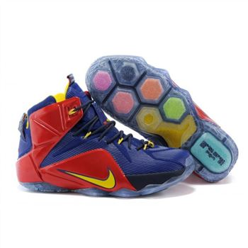 Mens Nike LeBron 12 EP Blue Red Yellow