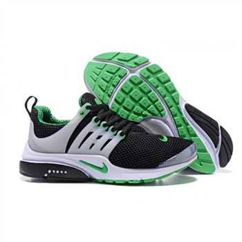 Men Nike Air Presto Essential Shoes Black White Green