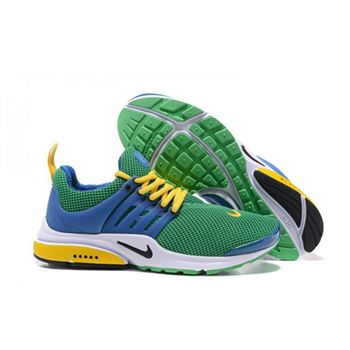 Men Nike Air Presto Essential Shoes Green Blue Yellow