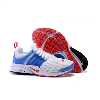 Men Nike Air Presto Essential Shoes White Blue Red