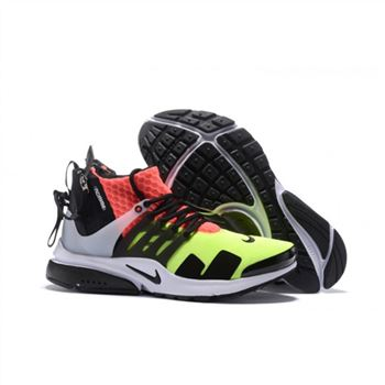 ACRONYM x NikeLab Air Presto Mid Mens Green Orange Black Shoes