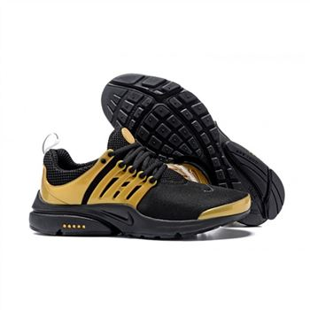 Men Nike Air Presto Essential Shoes Black Gold