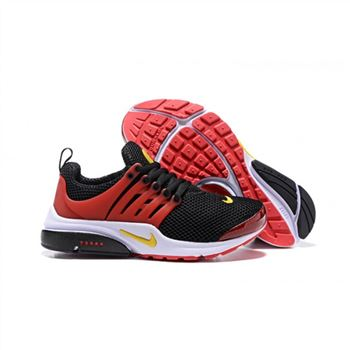 Men Nike Air Presto Essential Shoes Black Red Yellow