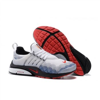 Men Nike Air Presto Essential Shoes White Black Red