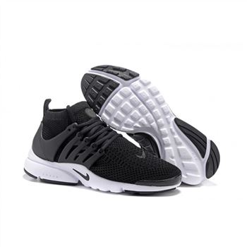 Men Nike Air Presto Flyknit Ultra Shoes Black White