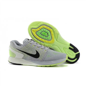 Nike Lunarglide 7 Mens Shoes Gray Green