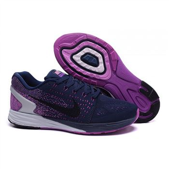 Nike Lunarglide 7 Mens Shoes Purple Navy Black
