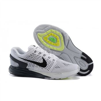 Nike Lunarglide 7 Mens Shoes White Black