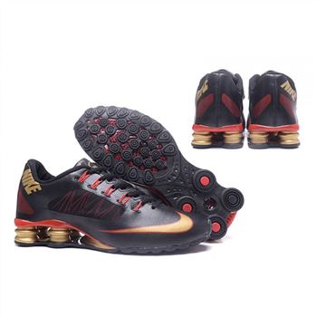 Mens Nike Shox Avenue 808 Shoes Black Red Gold