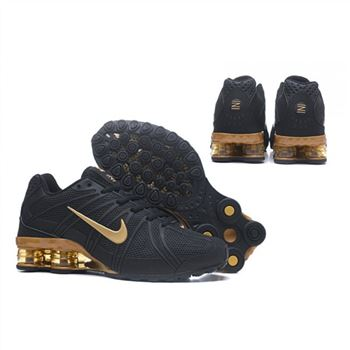 Mens Nike Shox Avernue 801 Black Gold Shoes