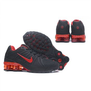 Mens Nike Shox Avernue 801 Black Red Shoes