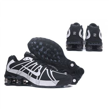 Mens Nike Shox Avernue 801 Black White Shoes