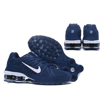 Mens Nike Shox Avernue 801 Navy White Shoes