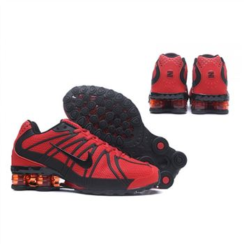 Mens Nike Shox Avernue 801 Red Black Shoes