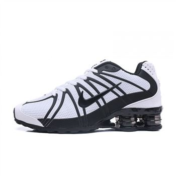 Mens Nike Shox Avernue 801 White Black Shoes