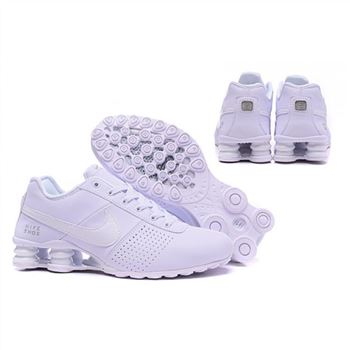 Mens Nike Shox Deliver All White Shoes