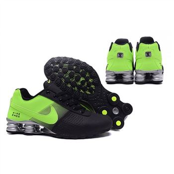 Mens Nike Shox Deliver Black Green Shoes