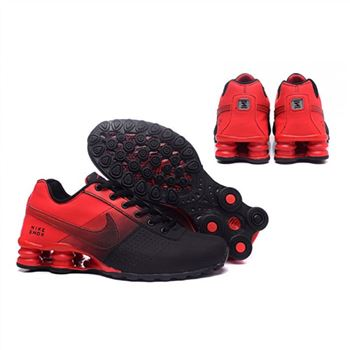 Mens Nike Shox Deliver Black Red Shoes