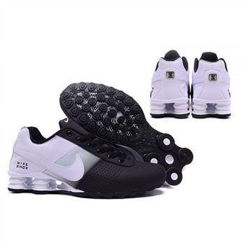 Mens Nike Shox Deliver Black White Shoes