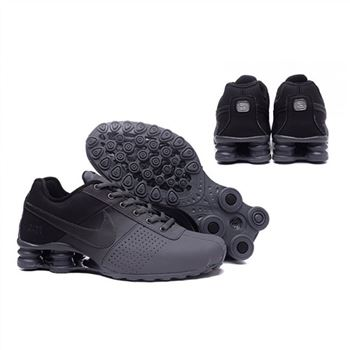 Mens Nike Shox Deliver Gray Black Shoes