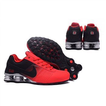 Mens Nike Shox Deliver Red Black Silver Shoes