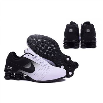 Mens Nike Shox Deliver White Black Shoes