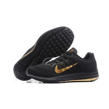 Mens Nike Zoom Winflo 5 Black Gold Shoes