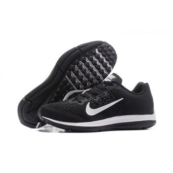 Mens Nike Zoom Winflo 5 Black White Shoes
