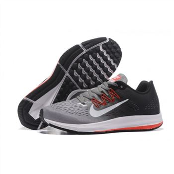 Mens Nike Zoom Winflo 5 Gray Black Red Shoes