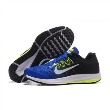 Mens Nike Zoom Winflo 5 Sapphire Black Green Shoes