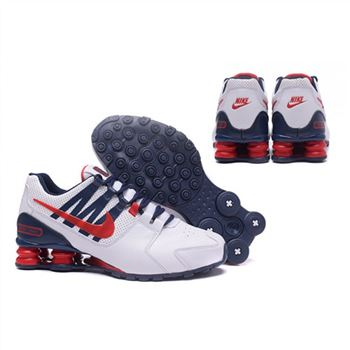 Nike Shox Avenue 803 Mens Shoes White Navy Red