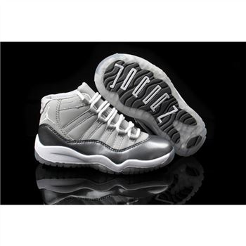 Air Jordan Retro 11 Kids Silver White