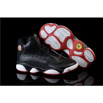 Air Jordan Shoes 13 Children Black White Red