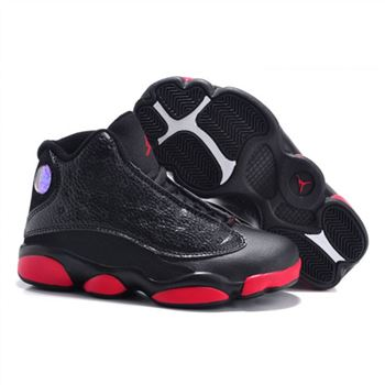 Air Jordan Shoes 13 Kids Black Red