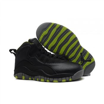 Kids Air Jordan Shoes 10 Black Green