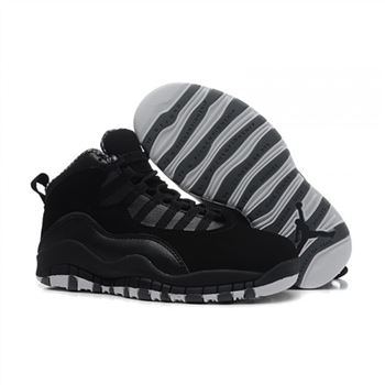 Kids Air Jordan Shoes 10 Black White